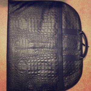 Zara croc 🐊 embossed black garment bag 🧳